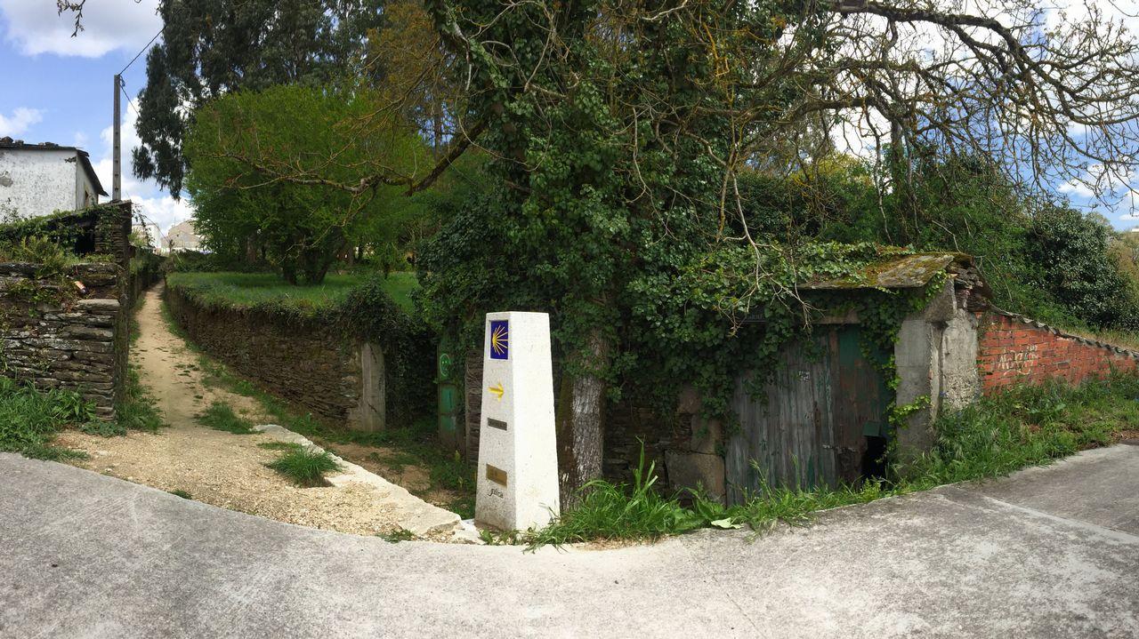 Desvío do Camiño de Santiago no Barrio do Carme (foto: La Voz de Galicia)